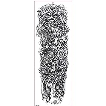 Amazon Com Girls Temporary Tattoos Large Arm Sleeve Tattoo
