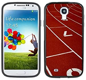 Race Track Running Handmade Samsung Galaxy S4 Black Bumper Hard Plastic Case