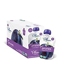Plum Organics Stage 1, Organic Baby Food, Just Prunes, 3.5 ounce pouch (Pack of 12) BOBEBE Online Baby Store From New York to Miami and Los Angeles