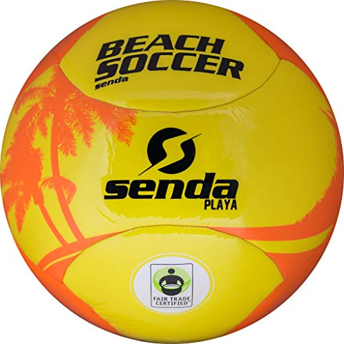 (Senda Playa Beach Soccer Ball, Fair Trade Certified, Orange/Yellow, Size 5 (Ages 13 & Up))