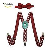 Xiacai Keep Calm And Love Red Pandas Suspender&Bow Tie Set Adjustable Clip-On Y-Suspender Kids