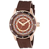 Invicta Men's 14335 Specialty Brown Polyurethane and 18k Rose Gold Ion-Plated Watch
