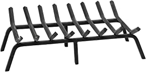 Minuteman International Non-Tapered, 28-in Fireplace Hearth Grate, x 17-in, Black