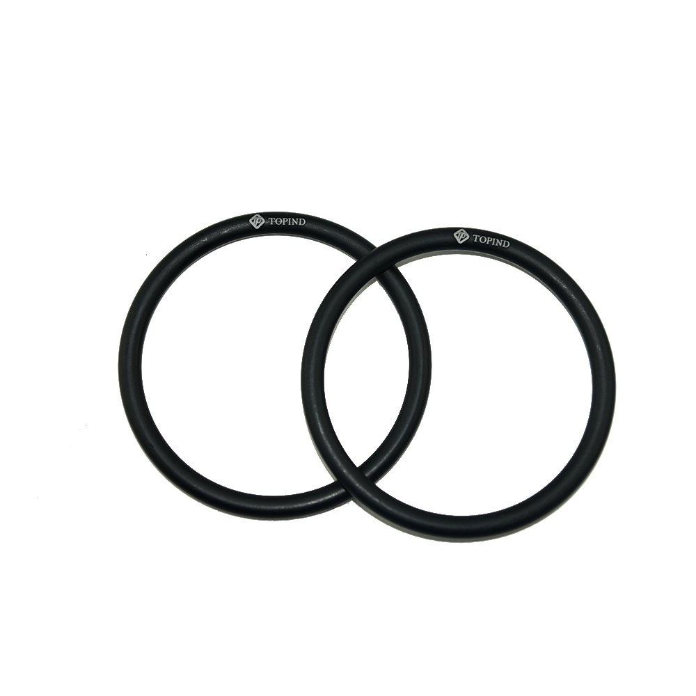 Topind 3'' Large Size Aluminium Baby Sling Rings for Baby Carriers & Slings of 2 pcs (Black)