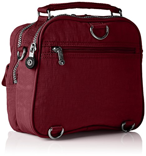 Kipling Candy A12 22x19x11 Bag Womens x 5 Handle x Crimson Red cm T B Top H r5wXr6x