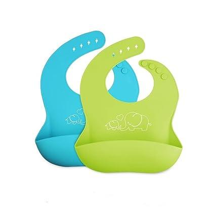 Baberos de silicona a prueba de agua, toallitas fáciles de limpiar y mantener las manchas