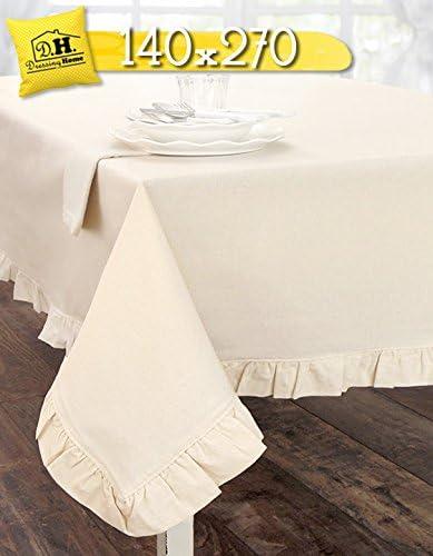 Mantel de Mesa Rectangular de Algodón con Volantes, Mantel para ...
