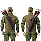 PELLOR Leather Tactical Hunting Quiver Archery Waist Crossbody Arrow Holder Bag