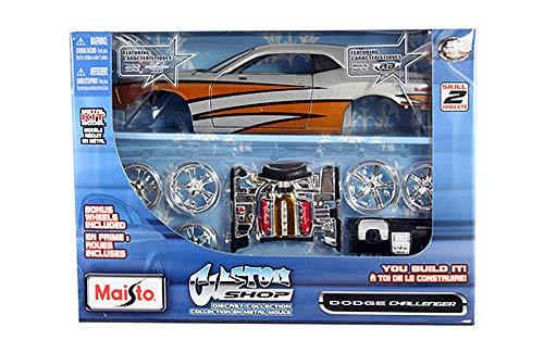 HCK 2008 Dodge Challenger SRT8 - Assembly Custom Model Kit Diecast Toy Cars 1:24 Scale