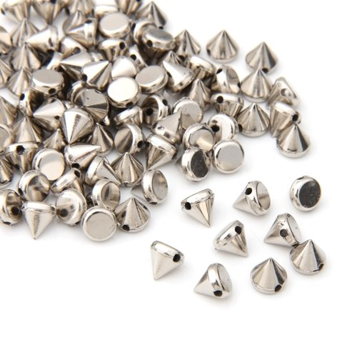 Rivet - TOOGOO(R)100X ABS plastic Rivets Spikes Silver for Bag Clothing