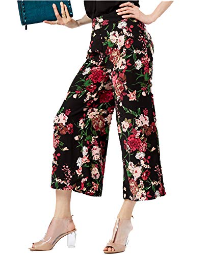 INC International Concepts Women's Printed Cropped Wide-Leg Pants (Femme Flower, 6) from INC International Concepts