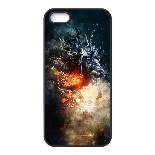 V7J66 bataille E1K1MH coque iPhone 5 5s cellulaire cas de téléphone couvercle coque noire KS9KJF5EP