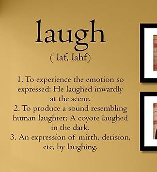 com laugh definition laughter smile love vinyl wall