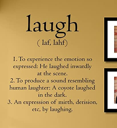 Amazoncom Laugh Definition Laughter Smile Love Vinyl Wall Decals