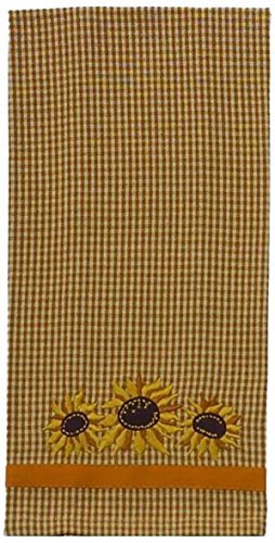 Home Collection by Raghu Sunflowers Mustard and Nutmeg Towel