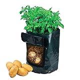 OriginA 10 Gal Fabric Grow Bag, Potato Patio Planter Bag, Green, 14'' Diameter X 18'' Height