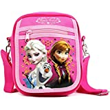 "Disney Frozen Elsa and Anna Medium 8"" Detachable Lanyard Messenger Shoulder Bag"