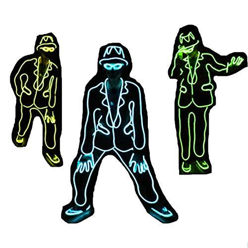 WTUGAIOHG Michael Jackson Style Jazz Disfraz De Danza Fluorescente ...