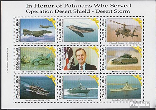 Palau-Islands 464-472 Sheetlet (Complete.Issue.) 1991 Liberation Kuwaits (Stamps for Collectors) Military