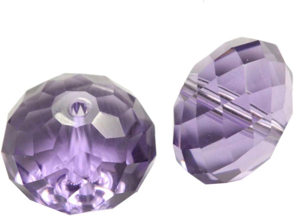 100 cuentas de cristal Adabele austriaco Rondelle de 6 mm, espaciador de tanzanita Rondelle compatible con cristales Swarovski 5040 Preciosa SS1R-626