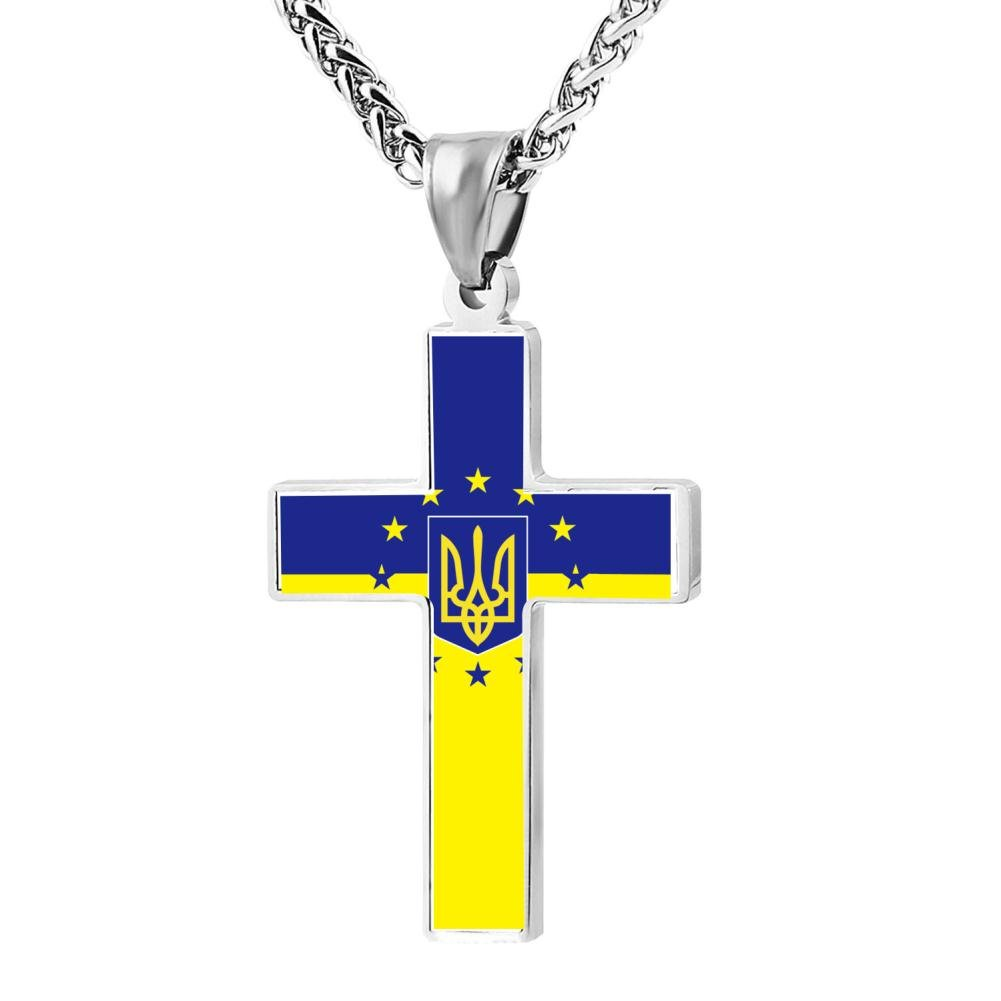 CrossBoom Celtic Trident Prayer Prayer Necklace With Free Chain Christian Jewelry Cross Pendant