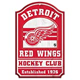 Wincraft NHL Detroit Red Wings 20322014 Wood Sign, 11-Inchx17-Inch, Black
