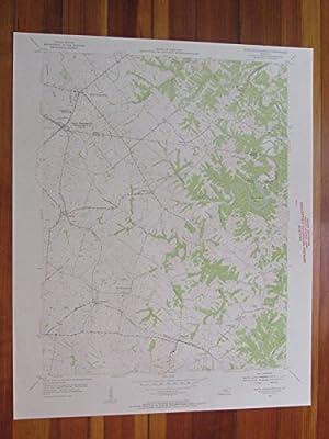 North Pleasureville Kentucky 1955 Original Vintage USGS Topo Map