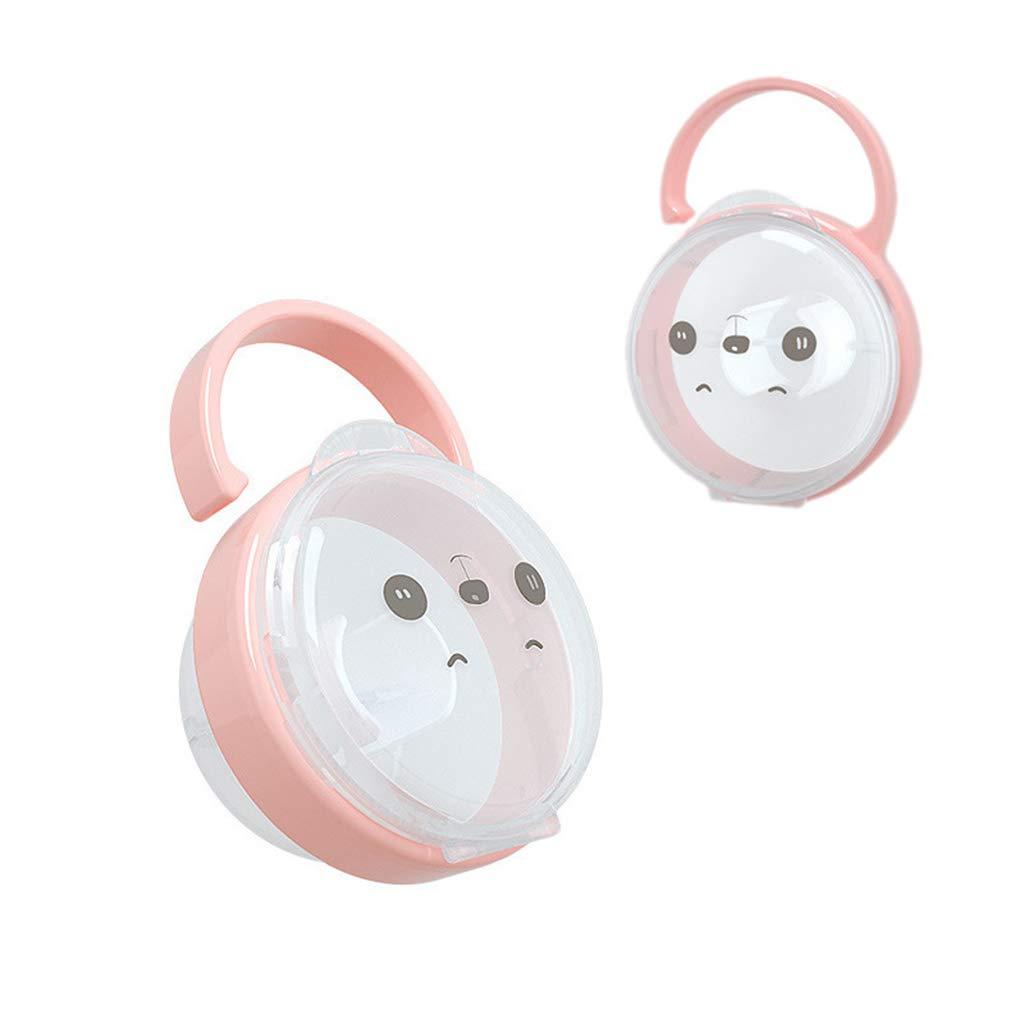 pez/ón transparente port/átil dise/ño de panda de dibujos animados Caja de almacenamiento para chupete de beb/é para chupetes de la marca The Baby Pacifier