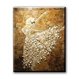 Ballerina Girl Printed Oil Painting on Canvas Wall Art for Wall Decor