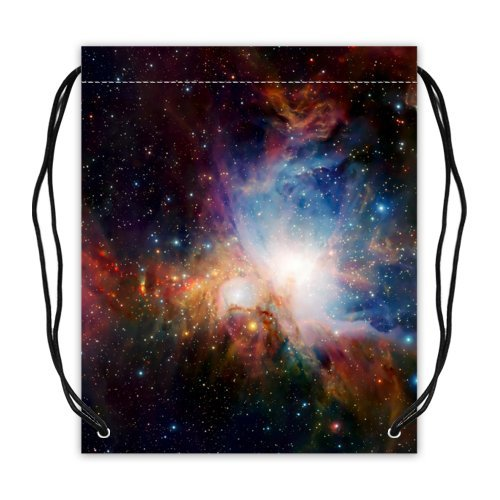 Nebula Galaxy Space Universe Basketball Drawstring Bags Backpack, Sports Equipment Bag - 16.5