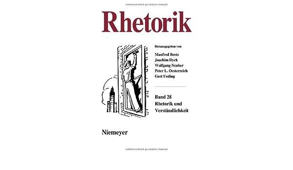 Rhetorik und Verständlichkeit: 28 (German Edition)