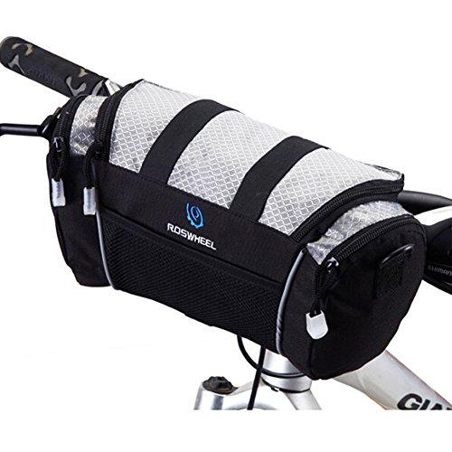 Roswheel Lenkertasche Fahrradlampe Abnehmbare Tasche/ Geldbeutel/ Karten/ Fahrradstaender