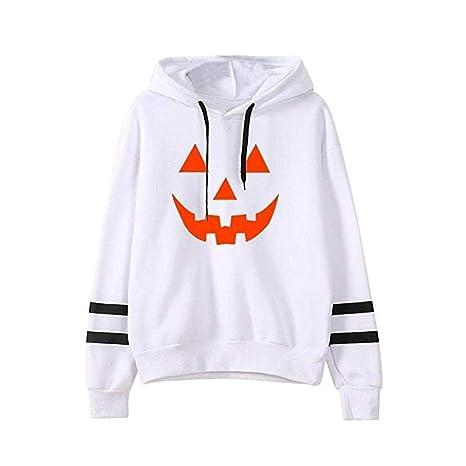 Winner Sudadera con Capucha para Halloween, a la Moda y cómoda, diseño de Calabaza