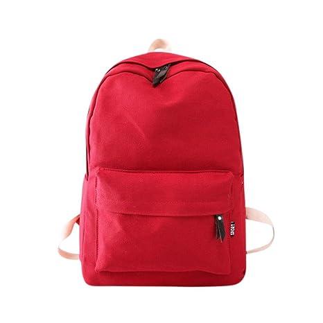 Mochila, Manadlian Bolso de mujer Mochila de viaje escolar Bolsos de hombro de lona para