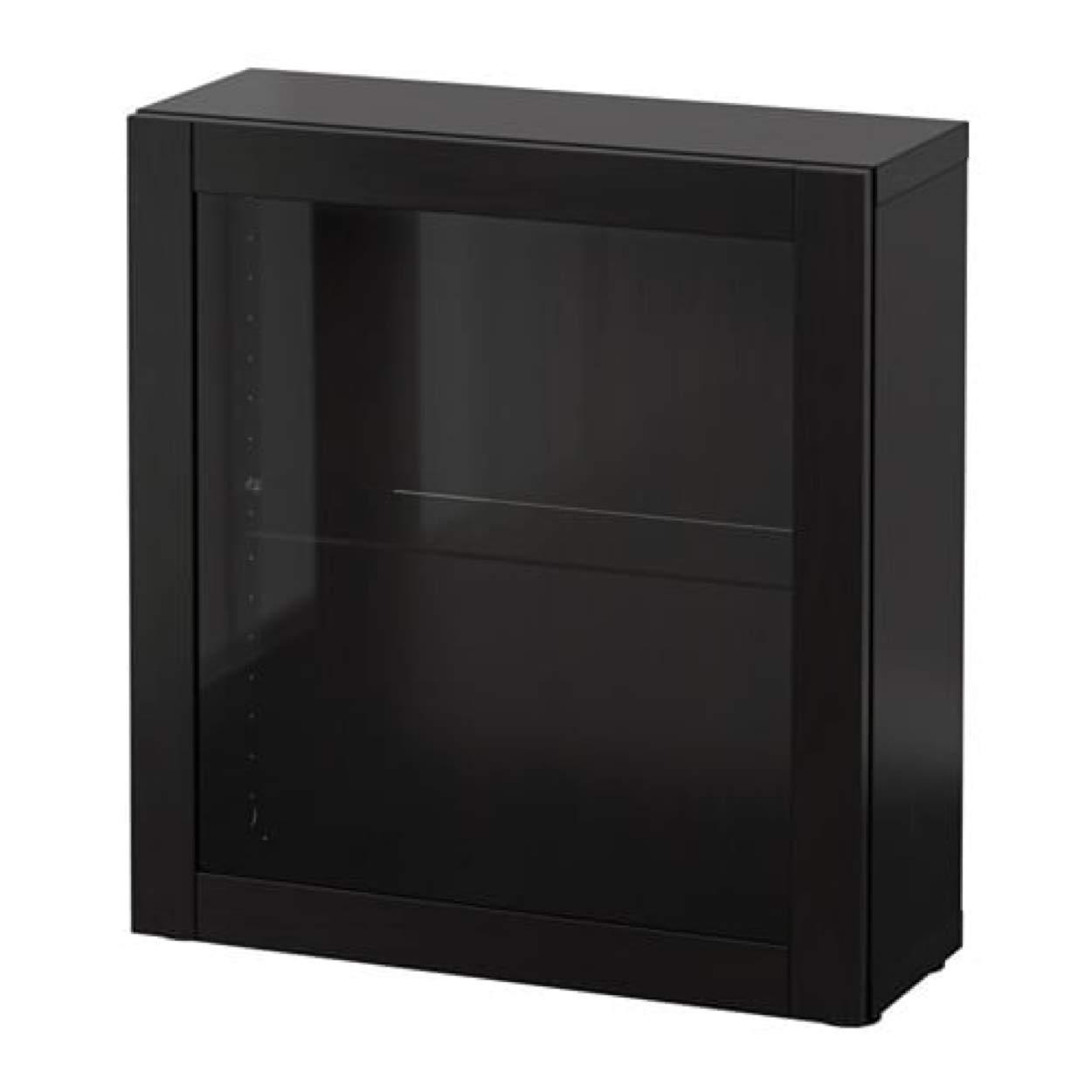 free shipping df199 de75f Amazon.com: IKEA Besta Shelf Unit with Glass Door Sindvik ...
