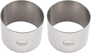 (Pack of 2) Round Food Ring, Stainless Steel (3.5