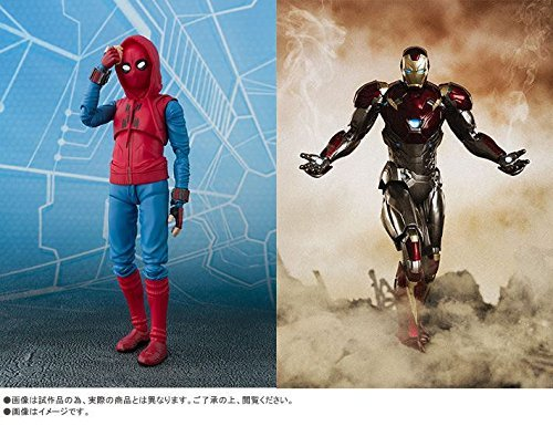 S.H.Figuarts SpiderMan (Homecoming) Home Maid Suit ver. & Iron Man Mark 47