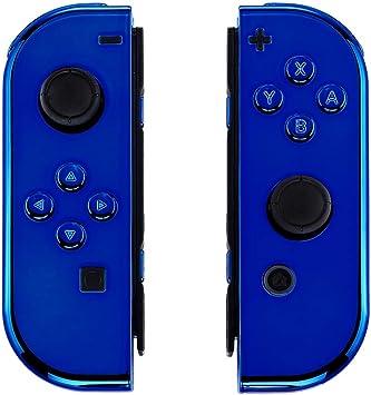 eXtremeRate Carcasa Joy-con para Nintendo Switch Funda de Agarre de reemplazo Shell de Bricolaje con Botón Completo Accesorios para Nintendo Switch No Incluye la Carcasa de la Consola (Cromo Azul): Amazon.es: Electrónica