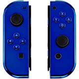 eXtremeRate Chrome Blue Joycon Handheld Controller Housing with Full Set Buttons, DIY Replacement Shell Case for…