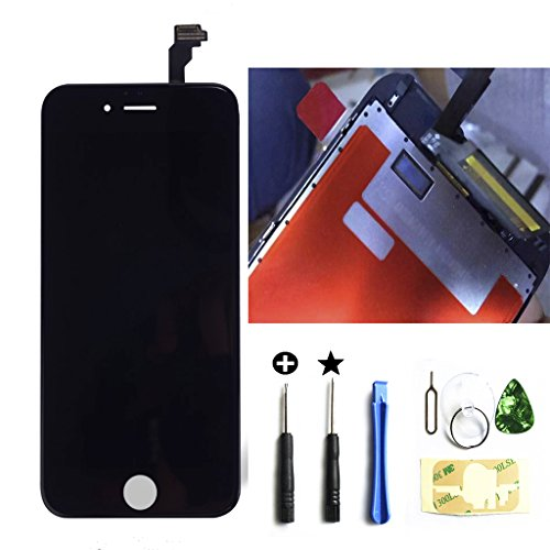 ZTR OEM Black LCD Display Touch Digitizer Screen Assembly Replacement for iPhone 6s 4.7 inch with 3D touch