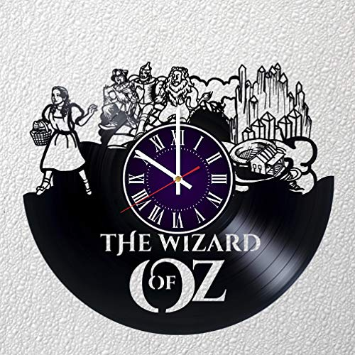 (Identica Store Wizard of Oz Vinyl Record Wall Clock - Room Wall Decor - Art Gift Modern Home Record Vintage Decoration Gift for Him and Her - Gift for Fan Gifts for Boys Man Girls w)