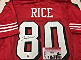 Jerry Rice Autographed Signed San Fransico 49ers Custom Jersey GTSM Rice Hologram & COA Card