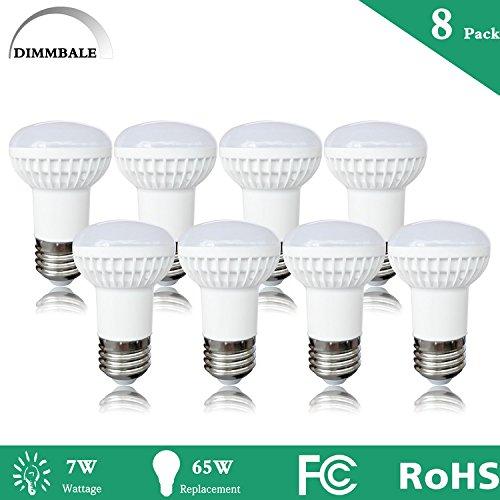 (8 Pack –7Watt BR16 Dimmable LED Bulb, 65W Equivalent , R14 Wide Flood Light Bulb, 2700K Warm White 700lm, 120° Beam Angle, E26 Medium Screw Base,Edison LED Light Bulbs for Table Lamp,Kitchen,Desk)