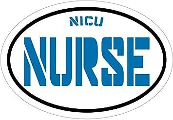 WickedGoodz Blue NICU Nurse Vinyl Window Decal RN Bumper Sticker Perfect Neonatal LPN CNA RN Gift