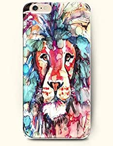 SevenArc Hard Phone Case for Apple iPhone 6 Plus ( iPhone 6 + )( 5.5 inches) - King Lion - Oil Painting