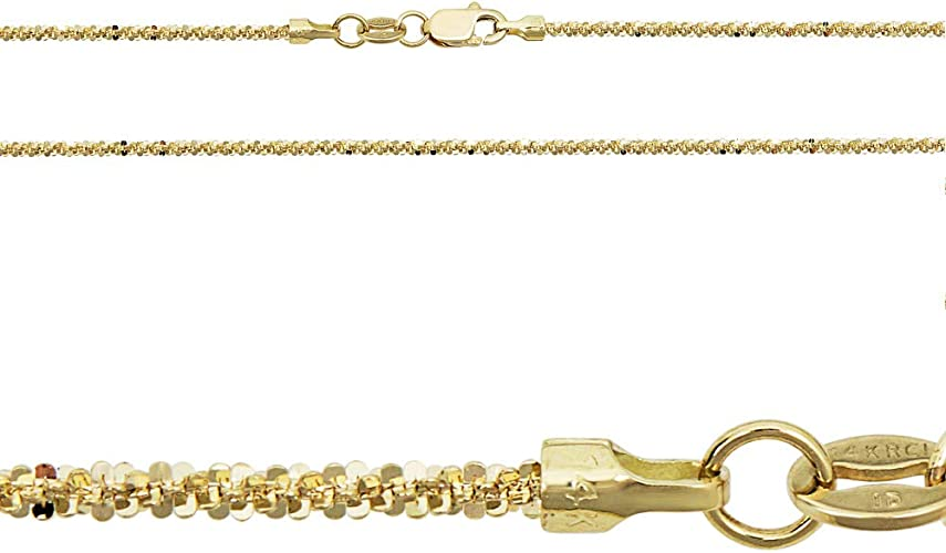 """14K Yellow Gold 2mm Thick Rope Link Chain Necklace 20/"""" Real Gold"""
