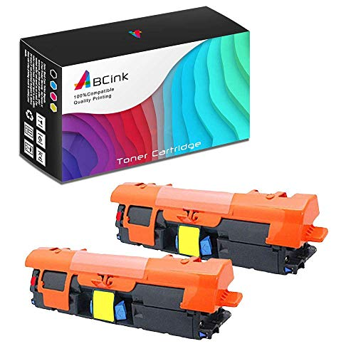 ABCink C9702A 121A Toner Compatible for HP Laserjet C9700A C9701A C9702A C9703A C9704A Printer Toner Cartridge,4000 Yields(2 Pack,Yellow)