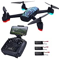 AICase JXD 518 RC Quadcopter 720P HD Camera WiFi FPV GPS Mining Point Drone 2.4GHz 6 Axis Gyro Mini Drone 360°Rotation Headless Mode + 3 Batteries
