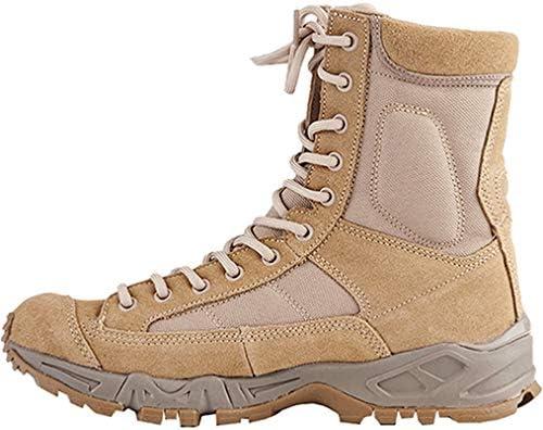 ハイカットハイキングシューズ メンズ レースアップラウンドトゥトレッキングシューズ 防水 滑り止め 耐摩耗性 軽量 通気 登山靴 快適 歩きやすい ウォーキングシューズ マーチンブーツレトロ 走れる