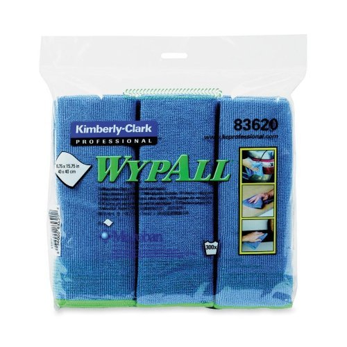 KIMBERLY-CLARK PROFESSIONAL WYPALL Microfiber Cloths with Microban Protection